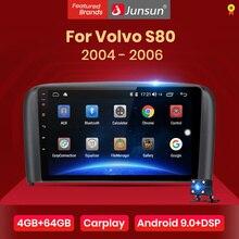 Junsun V1 4G + 64G CarPlay Android 10 DSP Volvo S80 1998   2006 araba radyo multimedya video oynatıcı navigasyon GPS RDS 2 din dvd