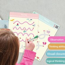 Jouet éducatif Montessori pour enfants de 2, 4, 6, 10 ans, formation à l'écriture, jeu pour garçons et filles, pensée logique, dessin avec stylo