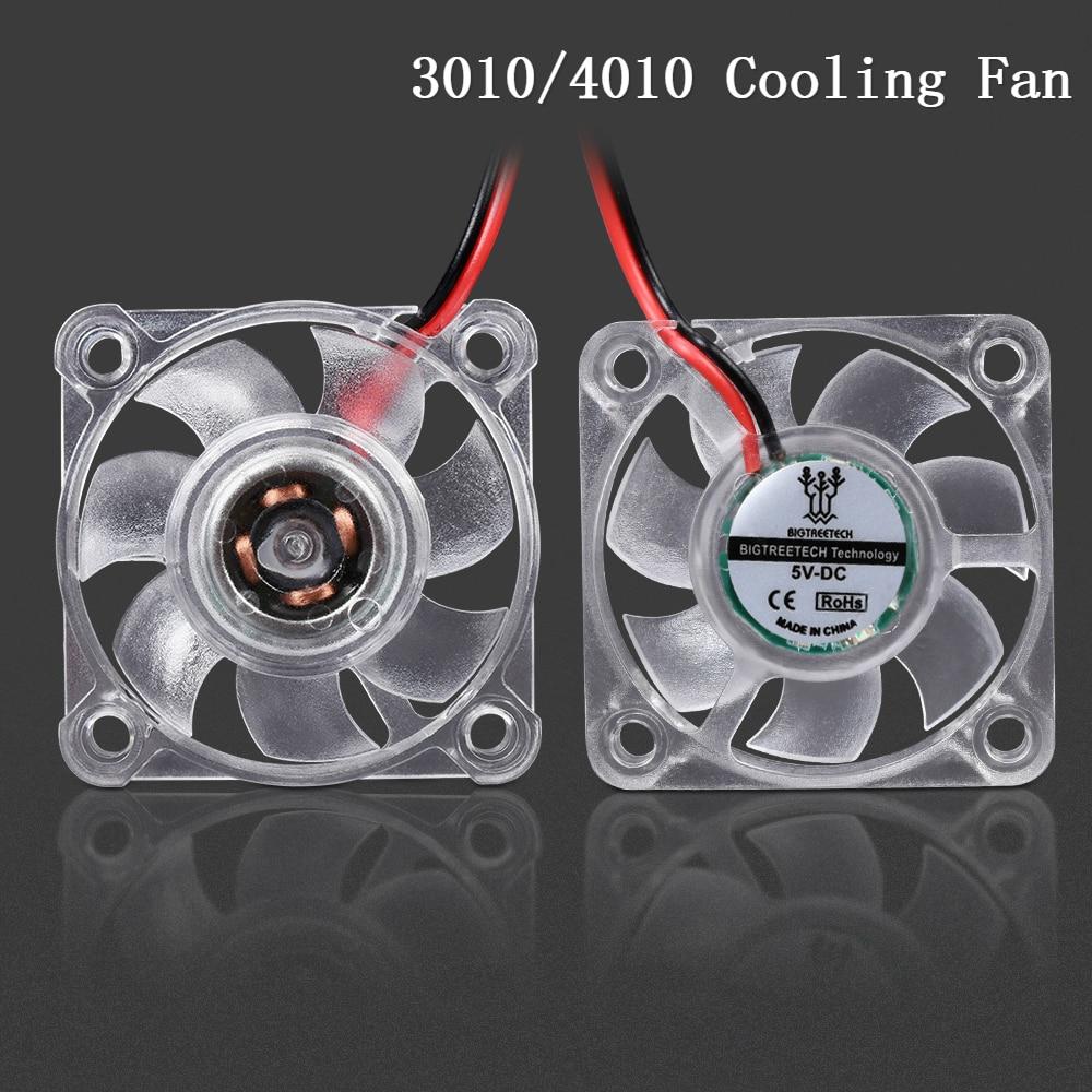 Вентилятор охлаждения Bigtreetech 3010 4010 со светодиодной подсветкой, 5 В, 12 В