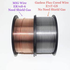 Image 3 - Fio cored gasless do fluxo do fio ER70S 6 da soldadura de mig E71T GS 1kg 0.6/0.8/0.9mm escudo do gás ou nenhum material de soldadura do aço carbono do gás