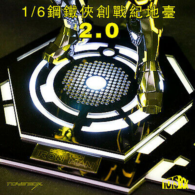 Toys Box 1//6 LED Iron Man Base Platform Legacy 2.0 Stand Scene Accessory TB078