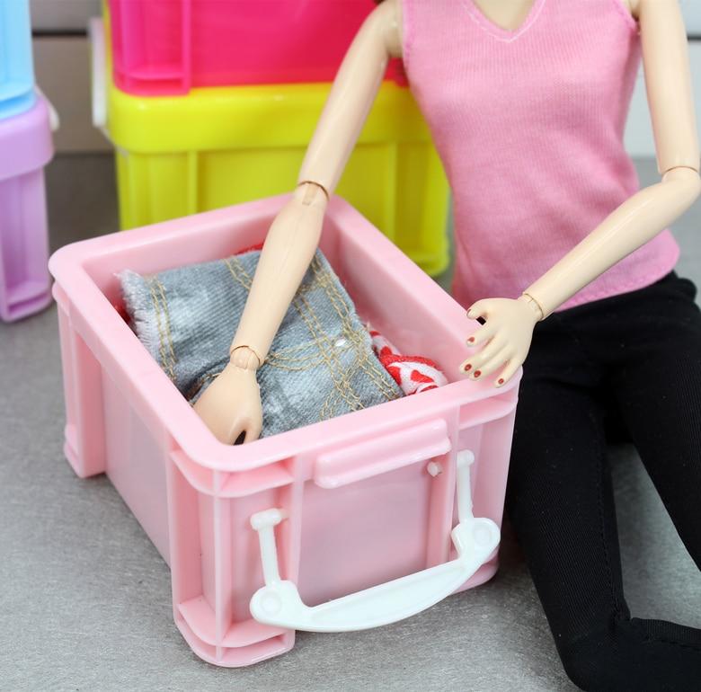 1pcs Mini Storage Box For Barbie Kurhn Blyth Licca 1/6  Original Bjd Doll Hourse Furniture Accessories Casa Da Boneca