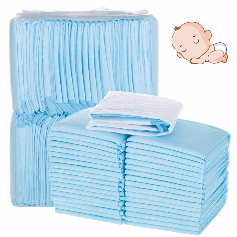 100pcs Disposable Baby Diaper Changing Mat for Adult Children or Pets Waterproof Newborn Changing Pads Diaper Mattress