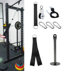 DIY Pulley Cable Machine System Attachment Arms Shoulder Strength High Strength Training Gear LAT Pull Up Down Building Fittings