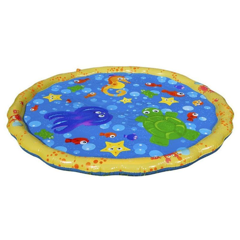 Sprinkle & Splash Play Mat Toy For Outdoor Swimming Beach Lawn Inflatable Sprinkler Pad Baby Children Kids   E65D