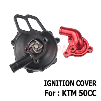 Motorcycle Ignition cover For 50 SX 2006-2008 Water cooler engine pump axle SX Pro JR LC 2002-05 SX PRO SR CNC intake pipe