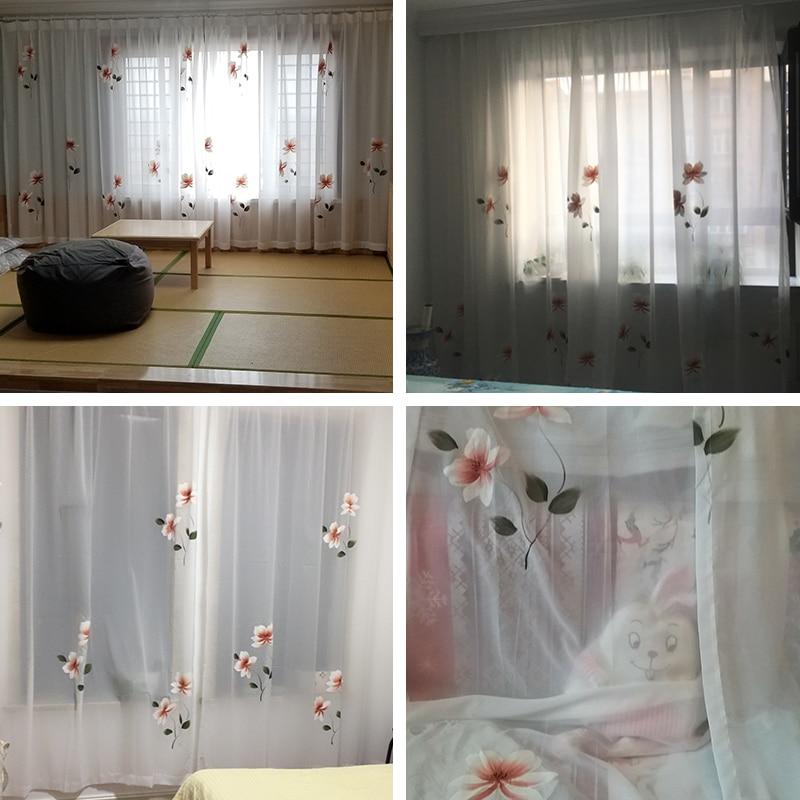 Image 5 - Innermor Франция живопись шторы для гостиной ручная роспись благородные тюль на окна элегантный тюль для кухни ИндивидуальныеЗанавеска   -