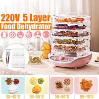 Dried Fruit Vegetables Herb Meat Machine Household MINI Food Dehydrator Pet Meat Dehydrated 5 trays Snacks Air Dryer|Dehydrators| |  -