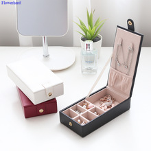 Jewelry Organizer Case-Boxes Stud-Earrings Display Leather Storage Portable Necklace