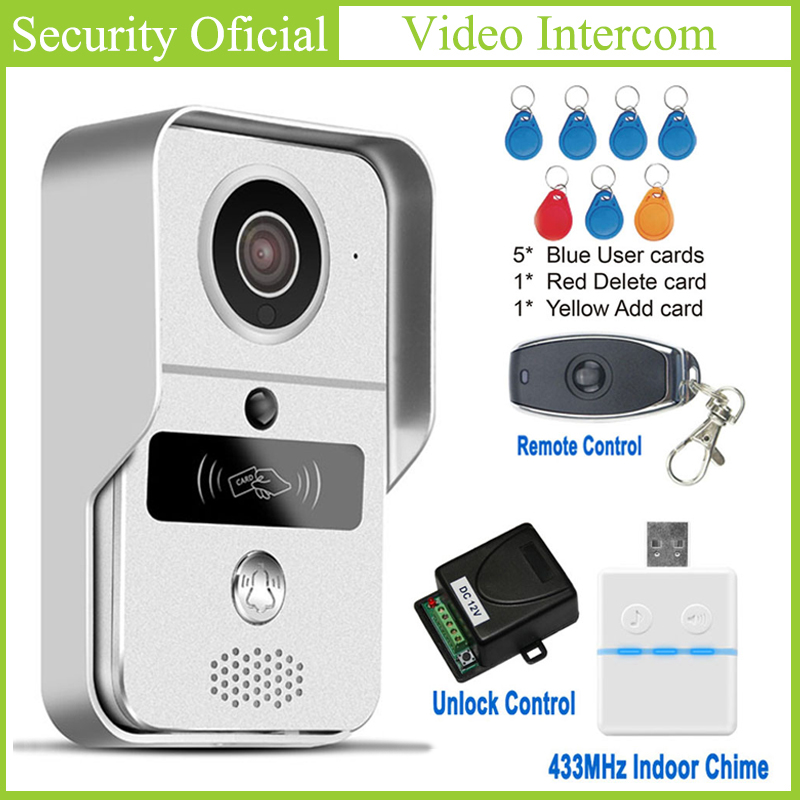 Full Duplex Audio Video Intercom Night Vision HD Smart Wireless Doorbell Camera Support Onvif PIR Alarm One Key WiFi Connection