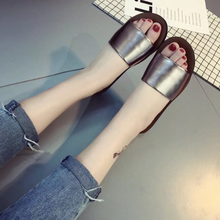 Women Sandal 2018 New Fashion Slippers Platform Sandals Summer Flip Flops Comfortable Peep Toe Flat Shoes a814