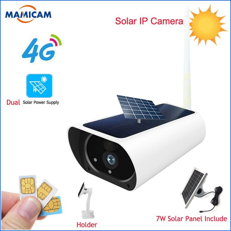 1080P 3G 4G carte SIM énergie solaire Wifi caméra batterie deux voies Audio sécurité extérieure sans fil IP caméra HD Surveillance PIR GSM