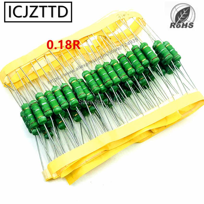 20x KNP02U-15R Resistor wire-wound THT 15Ω 2W ±5/% Ø3.5x10mm 400ppm//°C