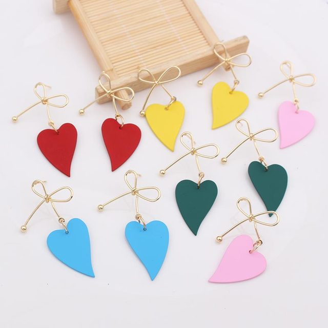 Lovely Heart Metal Earrings  5