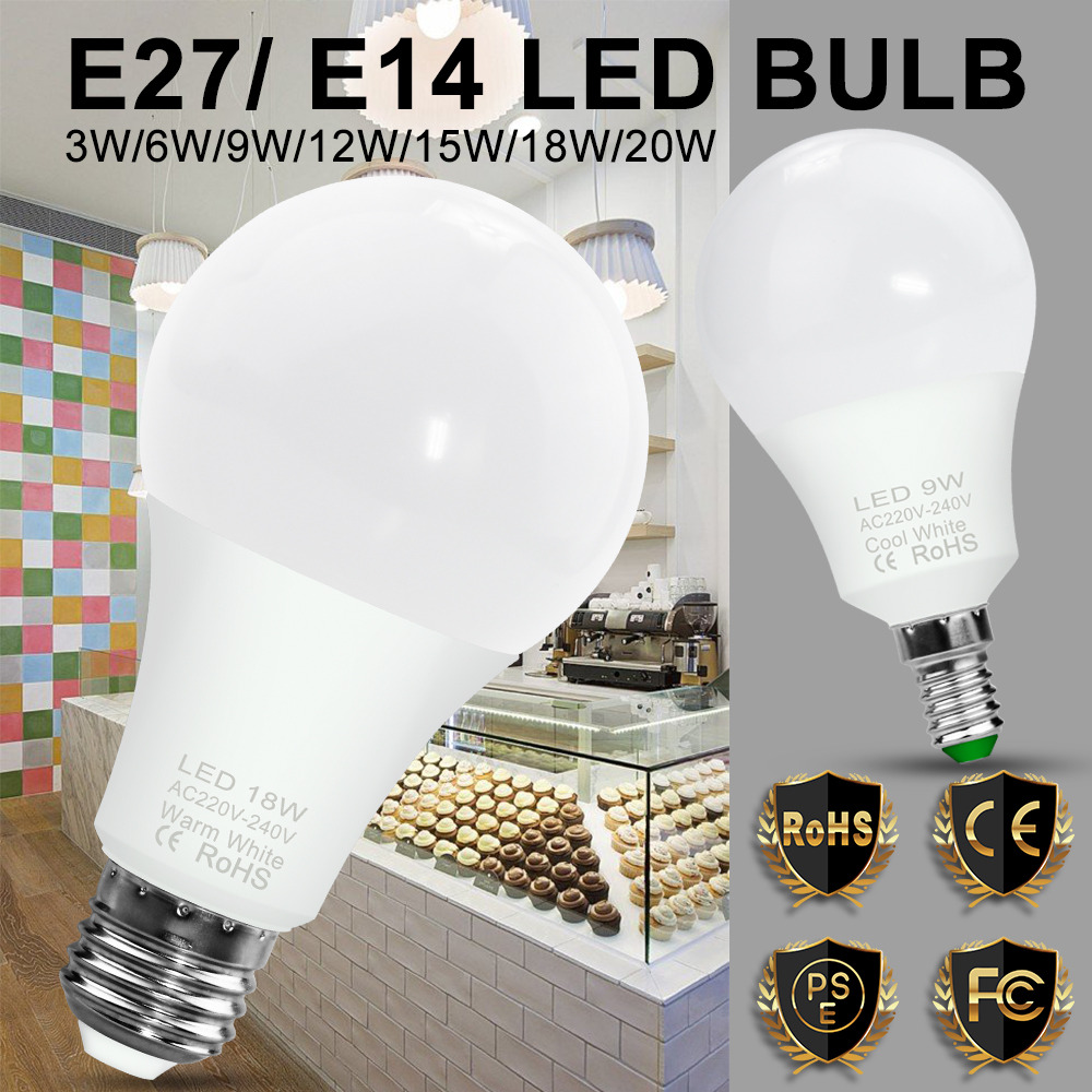 Light Bulb Led E27 E14 Lamp Lampada Led 3w 6w 9w 12w 15w 18w 20w Led Cold White Warm White Spotlight For Table Lamp Led Lampen Buy At The Price Of