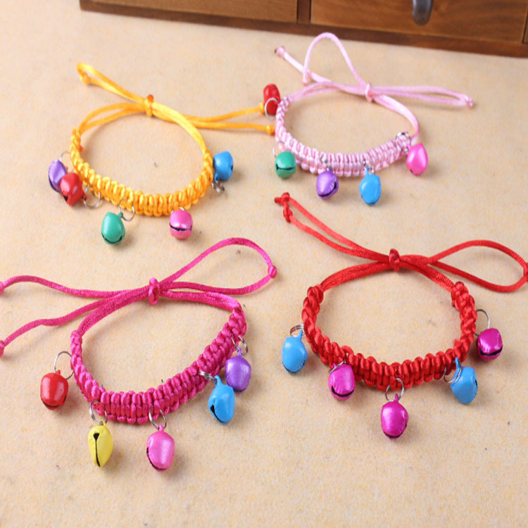[Manufacturers Direct Selling] Supply Wholesale Hand-woven Pet Necklace Dogs And Cats Necklace Bell Multi--Selectable