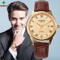 Fashion Watch Men Quartz Mens Watches Top Brand Luxury Gold Women Watch Lady Waterproof Leather Clock Men Business Wristwatch