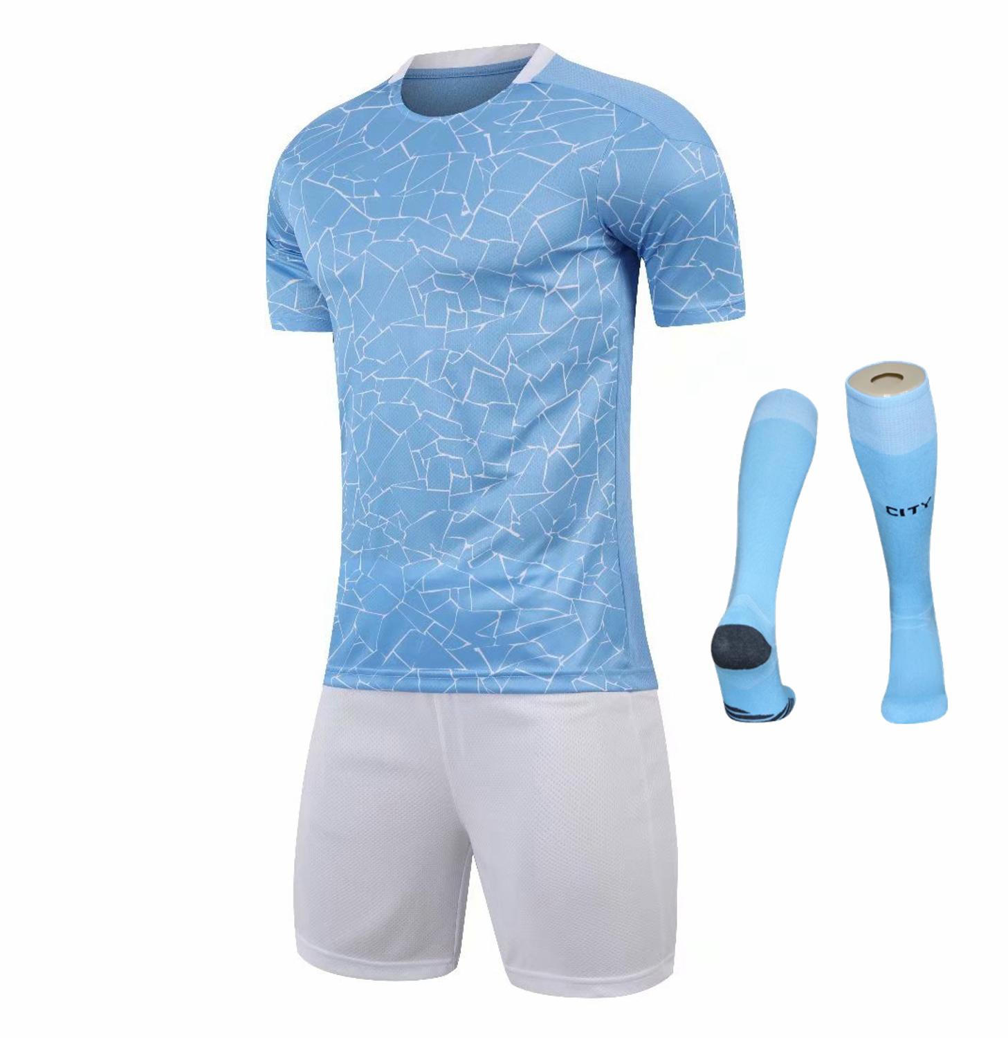 Children Sets football uniforms boys and girls sports kids youth training suits blank custom print soccer set with socks 13