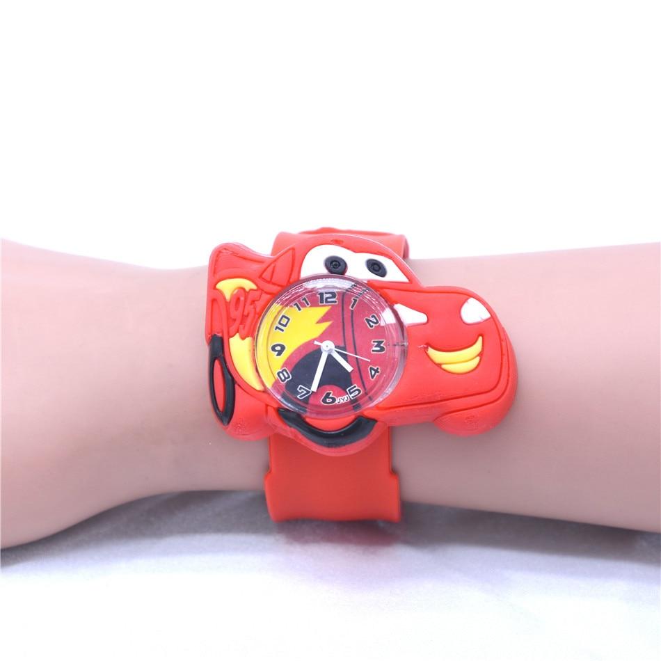 Детские спортивные часы с мультяшным автомобилем, стильные часы для мальчиков и девочек, детские игрушечные часы, montre enfant