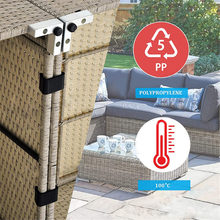 8PCS Outdoor Patio Wicker Furniture Clips Sectional Sofa Rattan Furniture Clamps Chair Fasteners Connect The Sectional LXY9 cheap Non-metal deviss Other 255362
