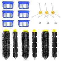 Запчасти для авто комплект для Irobot Roomba 600 610 620 650 серии вакуум-включает в себя фильтр, 3-щетка с защищенными боками с щетиной (Стоматологическа...