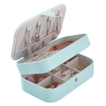 Stylish atmosphere leather jewelry boxes queen style factory outlets fine casket free shipping