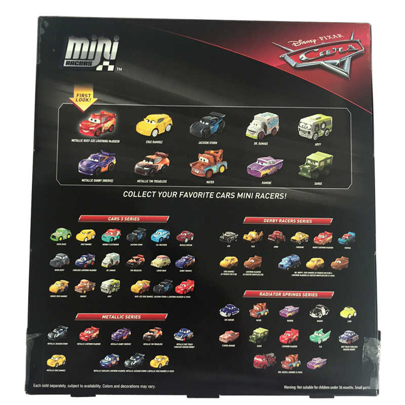 Genunie Original Disney Pixar Cars 3 Mini Metal Diecasts 10 Pcs
