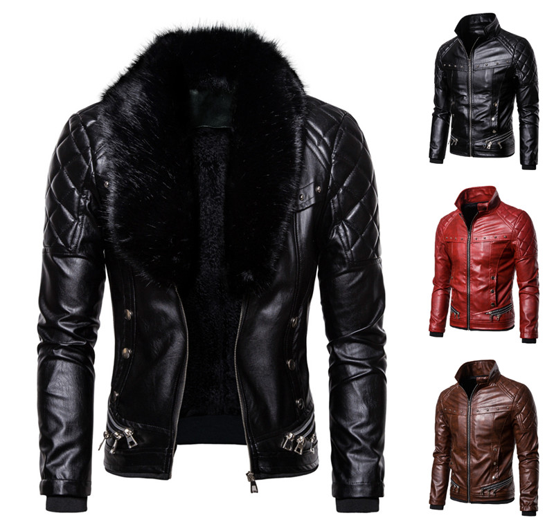 Men Jacket Winter Leather Coat Autumn Winter Leather Jacket