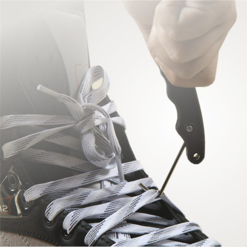 Skate Lace Tightener Handle Hold PP Folding Ergonomic Design Suit For Figure Roller Hockey Skates Skate Tool