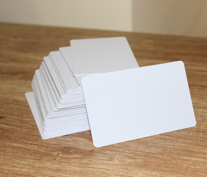 Plain White PVC Plastic ID Cards 3mil 0.75mm Thickness Credit Card Size 10/50/100pcs You Choose Quantity