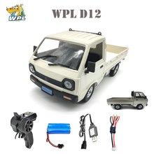 WPL D12 1/10 полноприводный Радиоуправляемый автомобиль, имитация дрифта, грузовик матовый 260, автомобиль для скалолазания со светодиодный свет...