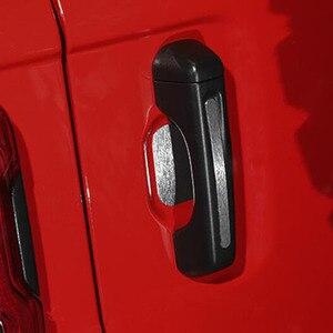 Fora da porta lateral alças etiqueta alça de pulso tigela decorativa guarnição quadro para jeep jl wrangler acessórios exteriores