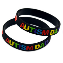 New Autism Dad and Mom autistic warning sign silicone bracelet soft wrist belt