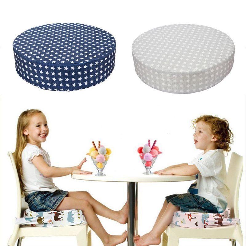 Child Kids Dining Cushion Adjustable Removable Increased Chair Pad