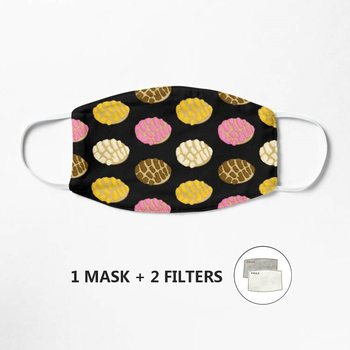 Black Latinx Concha Mexican Bread Pan Dulce Mask Anti-Dust Mask Windproof Reusable Masque Washable Face Mask Mouth image