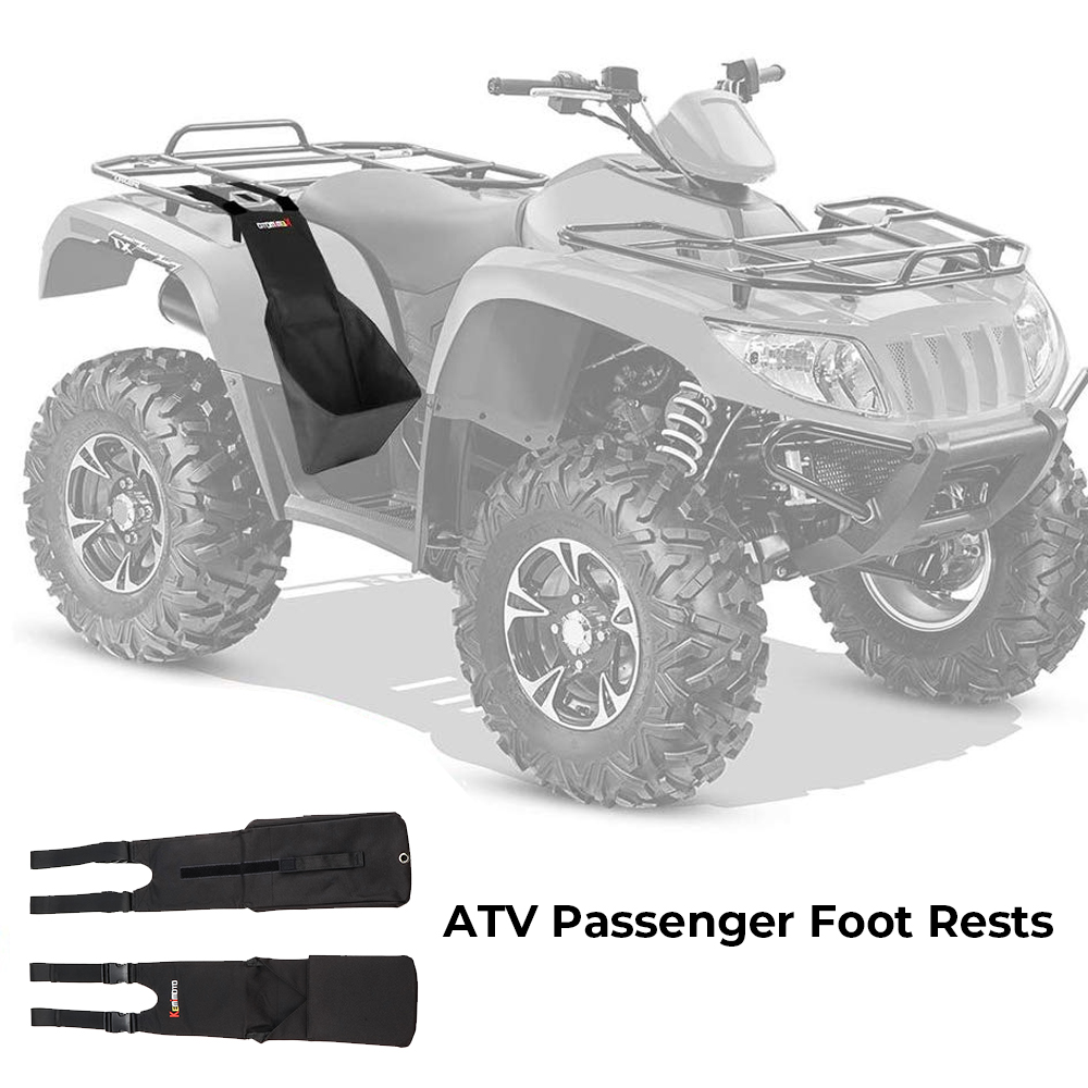 Universal KEMIMOTO ATV Footrest Rear Passenger Foot Pegs For Polaris Sportsman 400 450 500 800 850 For Can-am Outlander