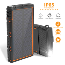 Solar Power Bank 30000mAh Portable Charger Travel Powerbank