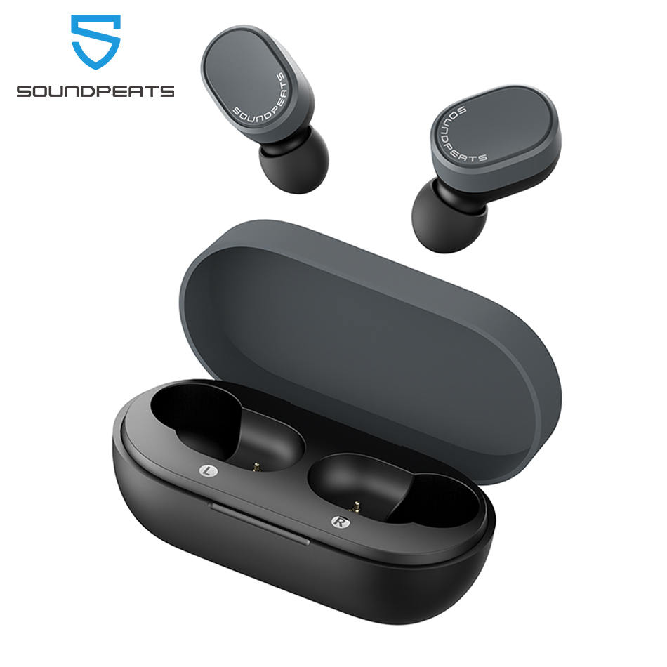 SoundPEATS Bluetooth 5.0 True Wireless Earbuds Touch Control Earphones Built-in Mic 7.2mm Enhanced Drivers IPX5 Waterproof