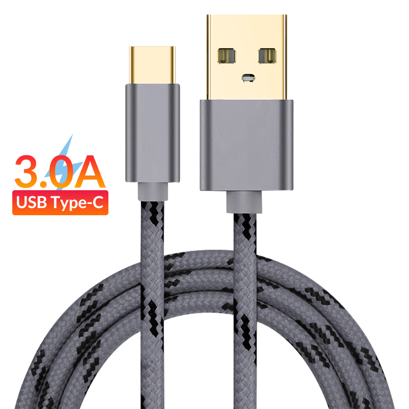 Original USB Type C Cable Quick Charging for Xiaomi Redmi Note 7 Mi 9 Typec Data Sync Charger 1M 2M for Samsung Galaxy S9 USBC