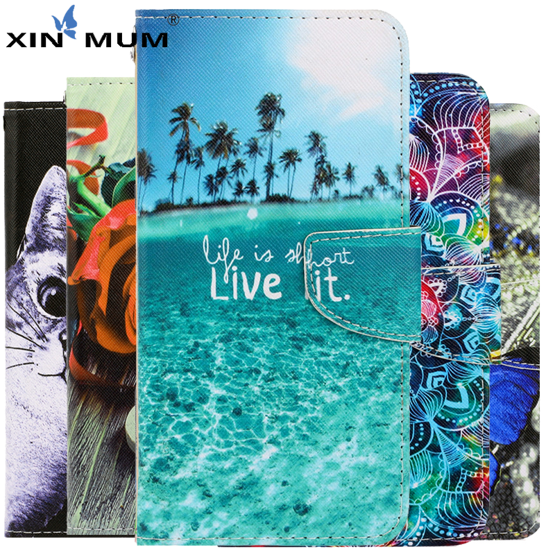 Cartoon Scenery Leather Flip Case For LG K61 Case For Coque LG V60 Thinq 5G Case Cover For LG K61 K 61 Fundas Wallet Phone Shell