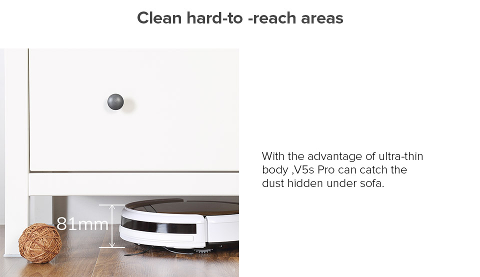 Hfa9baea5f0ed405f9c5e35f3dee5ab2aA ILIFE V5sPro Robot Vacuum Cleaner vacuum Wet Mopping Pet hair and Hard Floor automatic Powerful Suction Ultra Thin disinfection