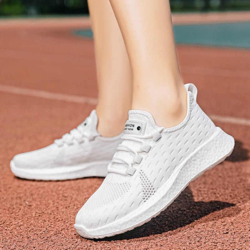2020 Đế Mềm Nữ Giày Nữ Nền Trắng Người Phụ Nữ Huấn Luyện Viên Mới Của Phụ Nữ Giày Sneaker Đen Thoáng Khí Dames Tenis Feminino
