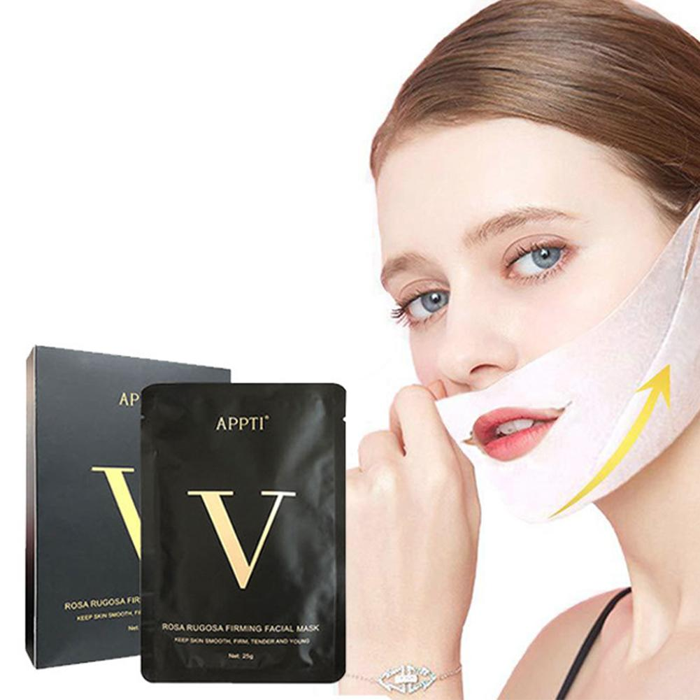1pcs V Shape Mask Face Mask Slimming Mask For Chin Line Contour Lifting Up Firming Moisturizing Tighten Skin Face Care Tools