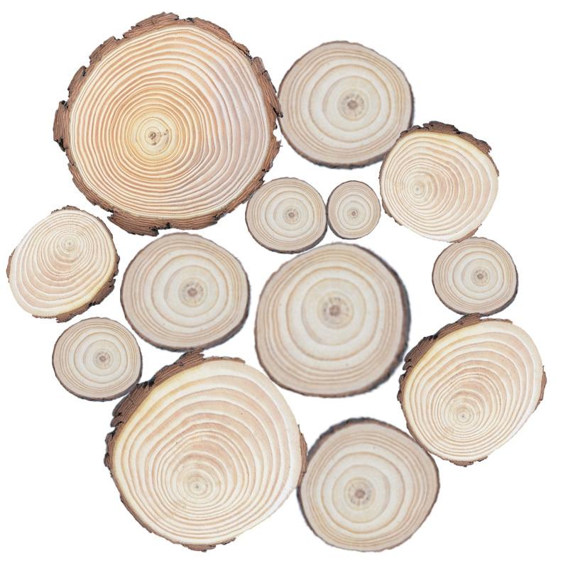 1pcs Crude Wood Painting Props Christmas Decorations For Home Original Ecological Trees Artificial Plants Kids Toys Floristics