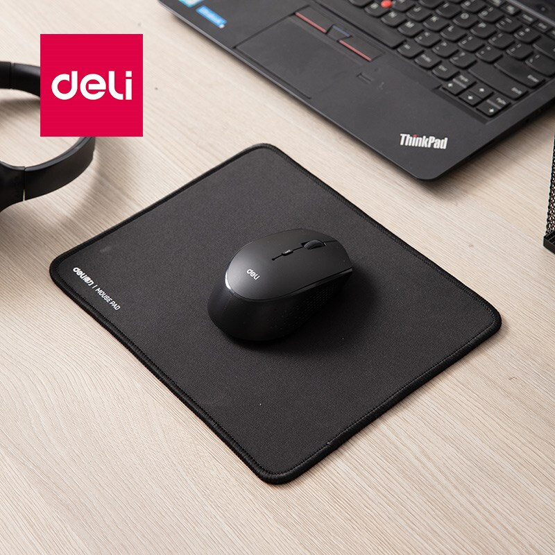 Deli 1pcs Mouse Pad Competitive Gaming Lock Mouse Pad Smooth And Durable Thickened Computer Office School Supplies