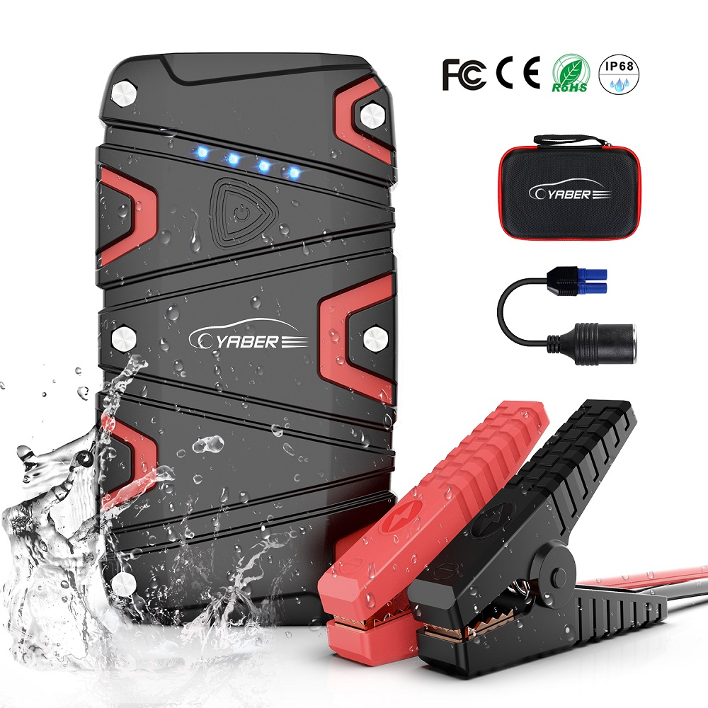 Yaber High Quality 15000mAh  Jump Starter 1200A Emergency Car Jump Starter Battery Power Bank Auto Booster IP68 Waterproof