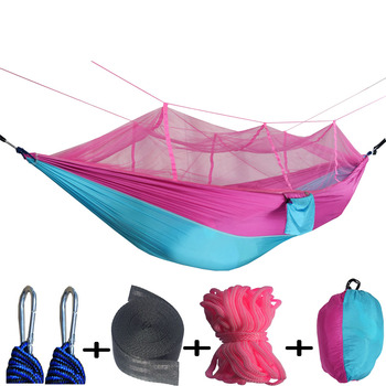 Ultralight Outdoor Camping Hunting Mosquito Net Parachute Hammock 2 Person Flyknit Hammock  Garden hammock Hanging Bed ultralight outdoor camping hunting mosquito net parachute hammock 2 person flyknit hammock garden hammock hanging bed