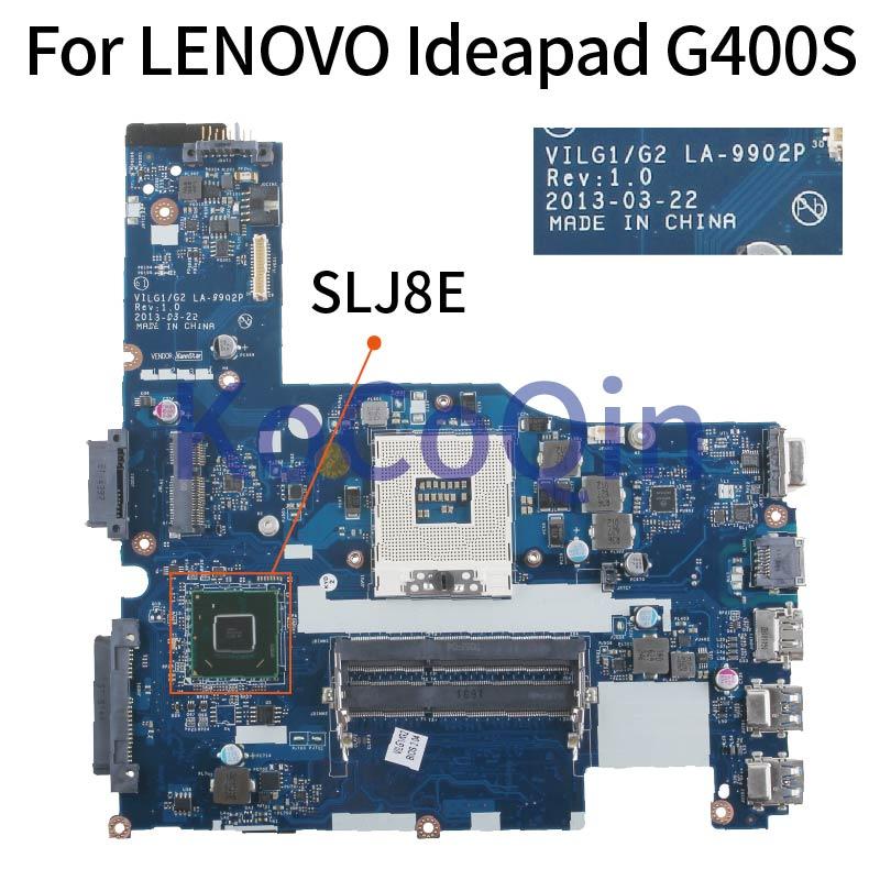 KoCoQin Laptop motherboard For LENOVO Ideapad G400S 14 1  inch HM76 Mainboard VILGL1 G2 LA-9902P SLJ8E