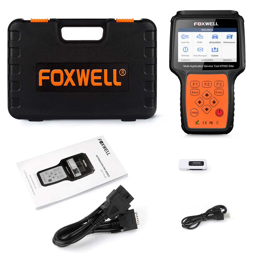 NT650 Elite Foxwell OBD2 Automotive Scanner ABS Airbag SAS DPF EPB Öl Reset-Code Reader Professionelle Auto Diagnose Werkzeug