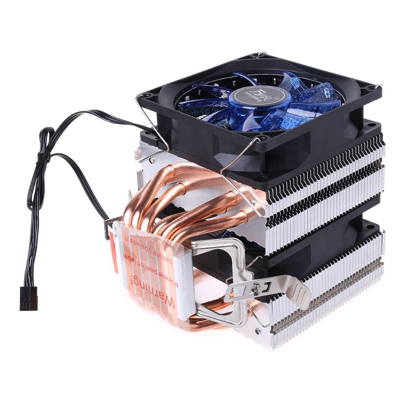 4PIN <font><b>CPU</b></font> <font><b>Cooler</b></font> <font><b>115X</b></font> 1366 2011 6Heatpipe Dual-tower Cooling Fan for AMD 775/1150 image